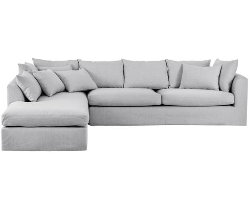Ecksofa Zach, Bezug: Polypropylen, Füße: Kunststoff, Bezug: GrauFüße: Schwarz, B 300 x T 213 cm