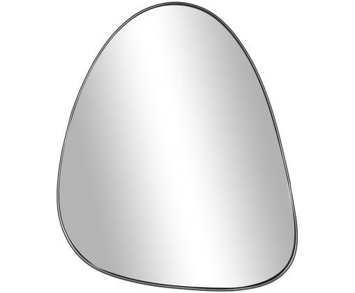 Ovaler Wandspiegel Codoll mit schwarzem Metallrahmen, Rahmen: Metall, beschichtet, Spiegelfläche: Spiegelglas, Schwarz, 56 x 66 cm