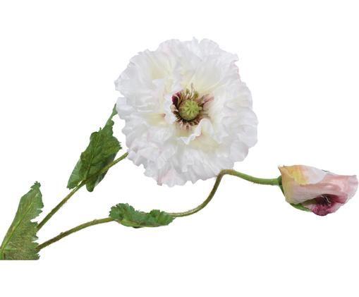 Fleur de coquelicot artificielle Mohn, Blanc crème, rose