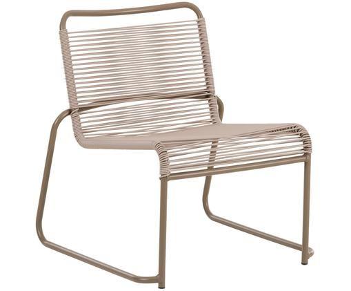 Fotel ogrodowy do układania w stos Lido, Stelaż: aluminium, lakierowany, Taupe, S 64 x G 70 cm