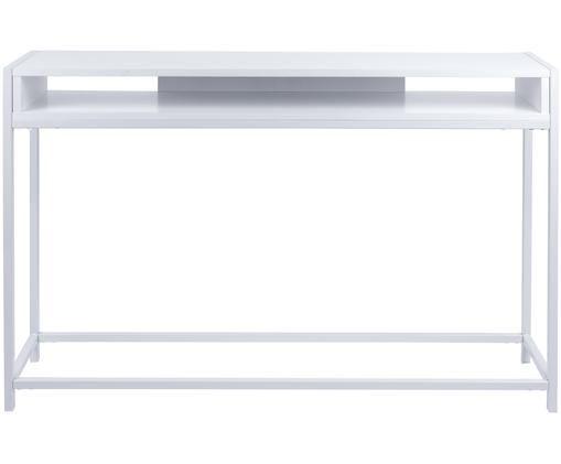 Consola Fushion, Estructura: metal, pintura en polvo, Estante: tablero de fibras de dens, Blanco, An 122 x Al 81 cm