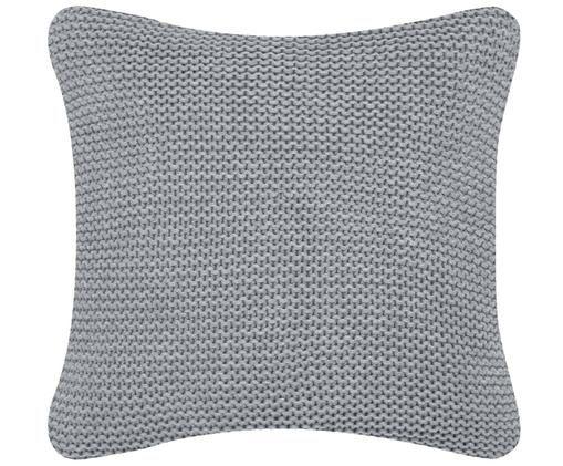 Federa arredo in cucitura a maglia Adalyn, 100% cotone, Grigio chiaro, P 40 x L 40 cm