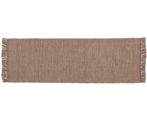 Passatoia Dag, Cotone, Taupe, Larg. 70 x Lung. 200 cm