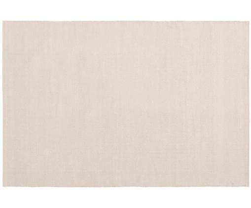 Handgeweven katoenen vloerkleed Agneta, Katoen, Taupe, B 200 x L 300 cm (maat L)