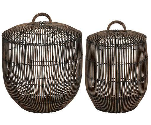 Set de cestas Angeli, 2pzas., Marrón