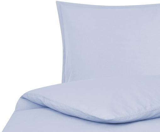 Pościel z lnu Breeze, 52% len, 48% bawełna Z efektem stonewash zapewniającym miękkość w dotyku, Jasny niebieski, 155 x 220 cm