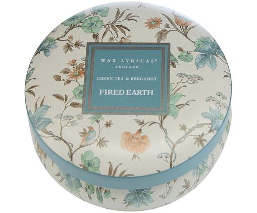 Duftkerze Fired Earth (Grüner Tee & Bergamotte), Behälter: Metall, Elfenbeinfarben, Türkis, Rosa, Braun, Ø 9 x H 6 cm