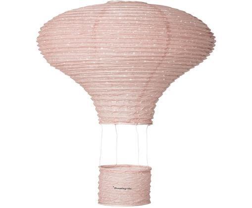 Dekoracja Ballon, Papier, Blady różowy, Ø 40 x W 60 cm