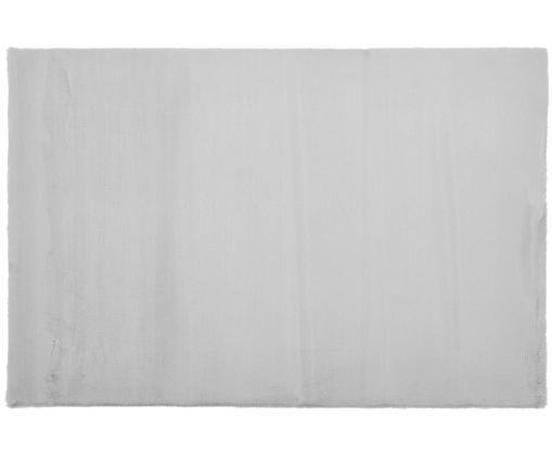 Vloerkleed van kunstvacht Rabea, Bovenzijde: 100% polyester, Onderzijde: 70% polyester, 30% katoen, Grijs, 120 x 180 cm