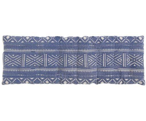 Bankauflage Agadir, Blau, Weiß, 40 x 115 cm
