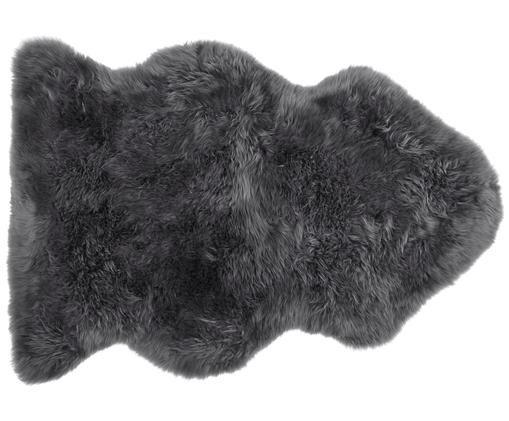 Pelliccia di pecora Oslo, liscia, Grigio scuro