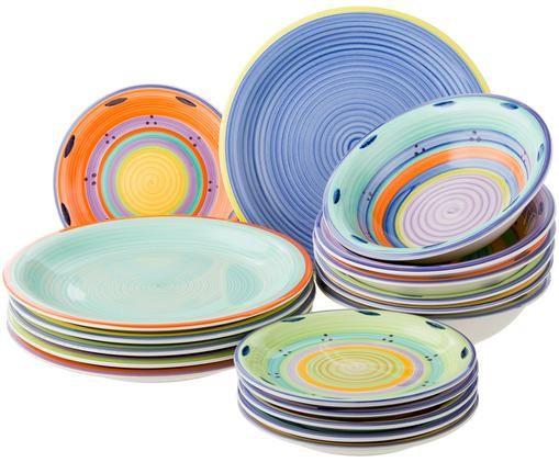 Servizio piatti Baia, 18 pz., Multicolore