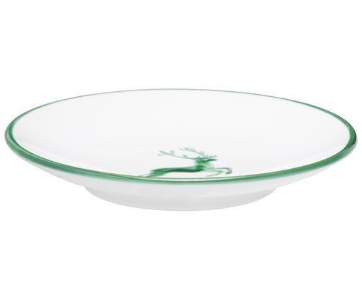 Schoteltje Classic Green Deer, Keramiek, Groen, wit, Ø 15 cm
