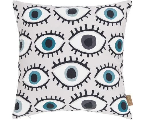 Kissenhülle Dream Big, Polyester, Rosa, Blau, Grün, Weiß, Schwarz, 40 x 40 cm