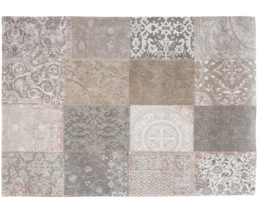 Tappeto Multi, Retro: Miscela di cotone, rivest, Beige, grigio, Larg. 140 x Lung. 200 cm