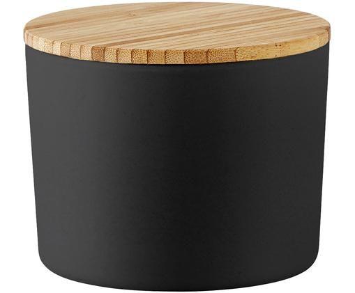 Pojemnik do przechowywania Bamboo, Pojemnik: czarny Pokrywka: jasny brązowy