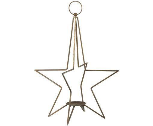 Kerzenhalter Glavia, Metall, beschichtet, Messingfarben, Ø 31 x H 54 cm