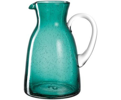 Krug Burano, Glas, Türkis, Transparent, 1.5 L