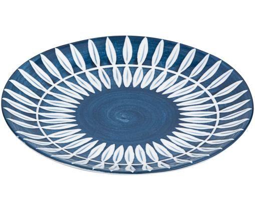 Piatto da colazione Skagen Leaf, Blu, bianco