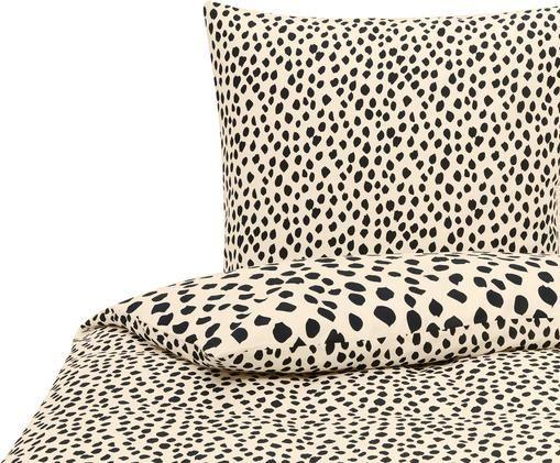 Bettwäsche Go Wild mit Leoparden Muster, Baumwolle, Beige,Schwarz, 135 x 200 cm