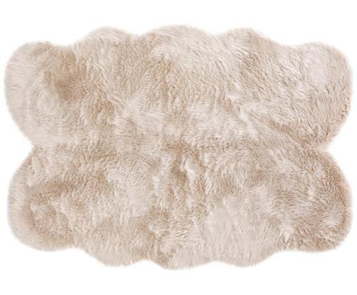 Tappeto in similpelle Elmo, Vello: 50% acrilico, 50% poliest, Retro: poliestere, Beige, Larg. 140 x Lung. 200 cm (taglia S)