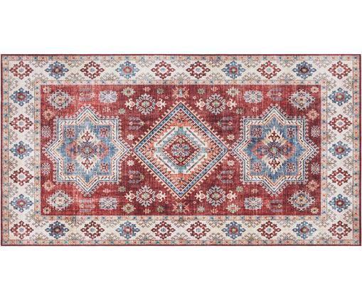 Teppich Gratia im Vintage Style, Rubinrot, Blau, B 80 x L 150 cm (Größe XS)