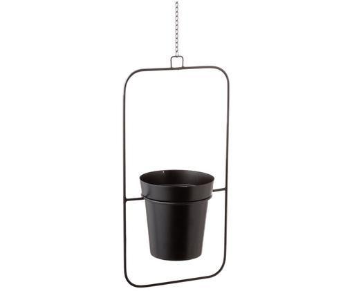Hangende plantenpot Undine, Zwart