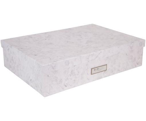 Scatola custodia Jakob, Bianco, marmorizzato
