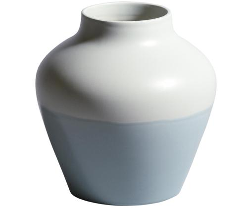 Vaso dipinto a mano Madalin, Terracotta, Blu menta, bianco, Ø 19 x A 19 cm