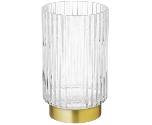 Vaso Lene, Vaso: vetro, Vaso: trasparente base: dorato, opaco, Ø 12 x Alt. 20 cm