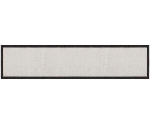 Dwustronny chodnik wewnętrzny/zewnętrzny Panama, Czarny, odcienie kremowego, S 80 x D 350 cm
