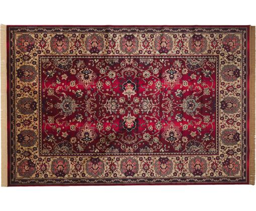 Vintage Teppich Bid mit Blumenmuster