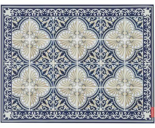 Alfombra vinílica Luis, Vinilo, Azul, beige, An 65 x L 85 cm