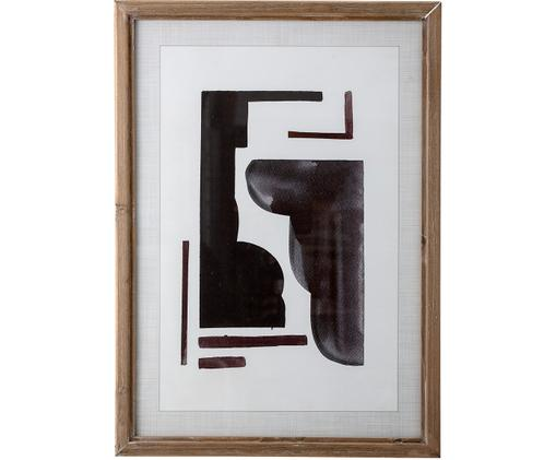 Oprawiony druk cyfrowy Hannelore, Drewno jodłowe, S 50 x W 70 cm