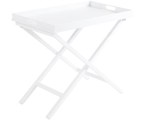 Stolik-taca Vero, Aluminium powlekane, Biały, matowy, S 70 x W 60 cm