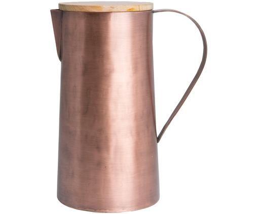 Kanne Copper, Kanne: Kupfer, gebürstet, Deckel: Mangoholz, Kupfer, 1.7 L