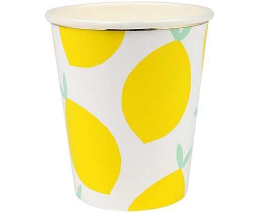 Mugs en papier Lemon, 8pièces