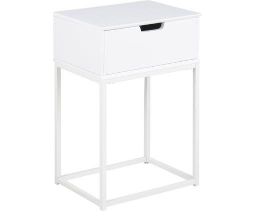 Noční stolek se zásuvkou Mitra, Bílá