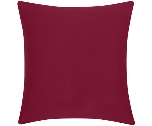 Funda de cojín de algodón Mads, Algodón, Rojo, An 50 x L 50 cm
