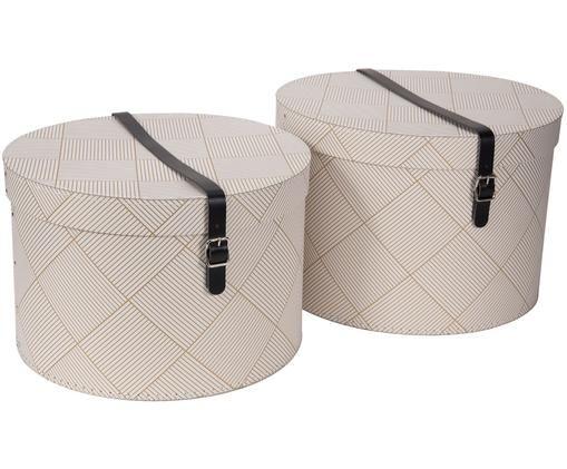 Set scatole Rut, 2 pz., Dorato , bianco