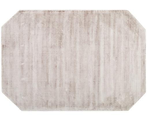 Tappeto in viscosa Jane Diamond, Vello: 100% viscosa, Retro: 100% cotone, Grigio chiaro, Larg. 160 x Lung. 230 cm