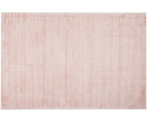 Tappeto in viscosa tessuto a mano Jane, Vello: 100% viscosa, Retro: 100% cotone, Rosa, Larg. 200 x Lung. 300 cm