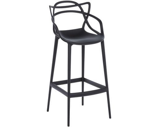 Chaise de bar Masters, Noir