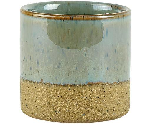 Übertopf Neptune, Keramik, Oben: GraublauUnten: Beige, Ø 8 x H 8 cm