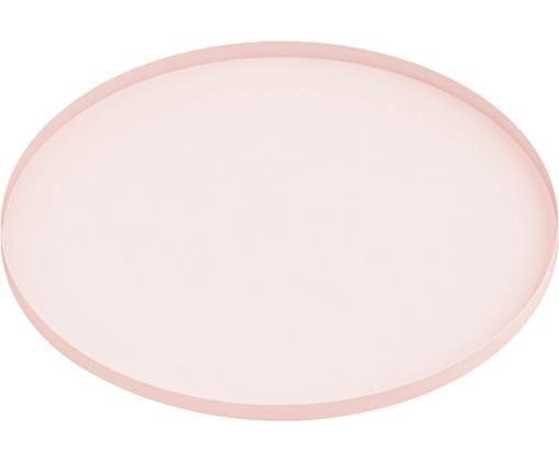 Tablett Arla, Metall, beschichtet, Rosa, Ø 41 cm