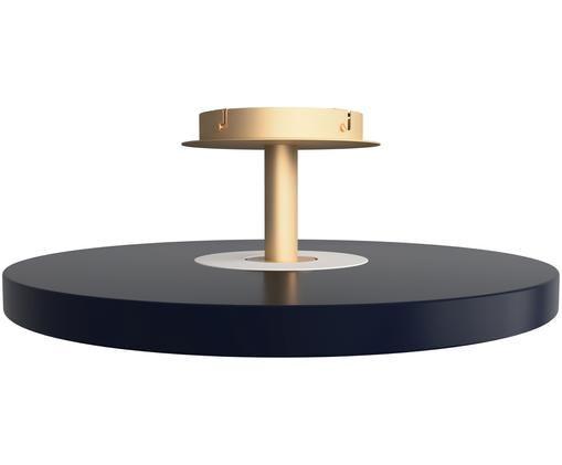 LED Deckenleuchte Asteria, Lampenschirm: Aluminium, lackiert, Anthrazit, Goldfarben, Ø 60 x H 21 cm