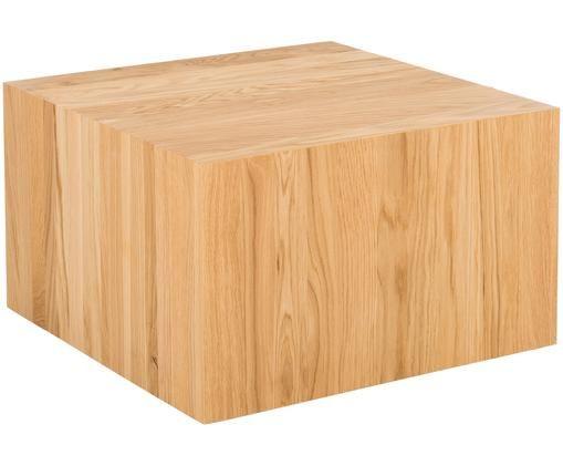 Couchtisch Roll-It aus massivem Eichenholz, Eichenholz