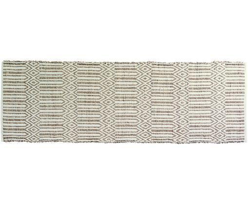 Chodnik Kalun, Trawa morska, bawełna, Złamana biel, beżowy, S 70 x D 200 cm
