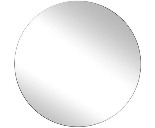 Okrągłe lustro ścienne Erin, Lustro: szkło lustrzane Zewnętrzna krawędź lustra: czarny, Ø 90 cm