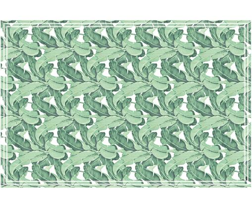 Passatoia in vinile riciclabile Mogli, Vinile, riciclabile, Verde, bianco, Larg. 136 x Lung. 203 cm
